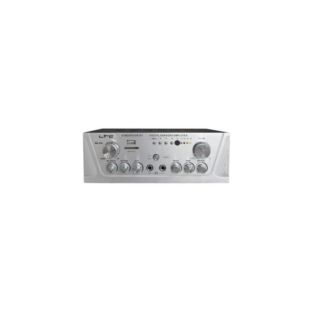 Ltc Amplificateur Stereo 2X50W Avec Karaoke, Usb-mp3/SD et Bluetooth