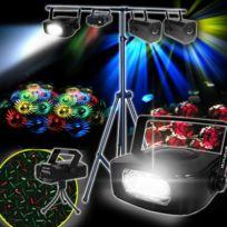 Kool Light - Pack jeux lumière Flower & Rosaly, Laser et Strobe
