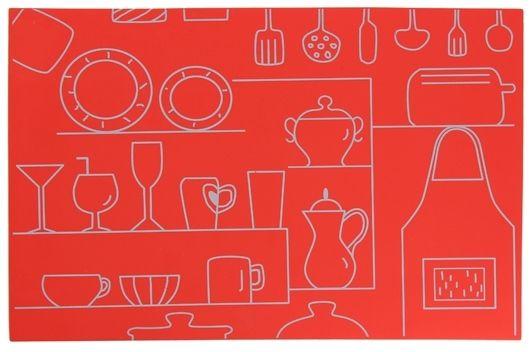 Lebrun Set de table rouge Cucina