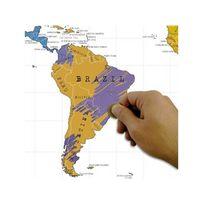 Manta design - Carte du monde à gratter - Dimension - Petite