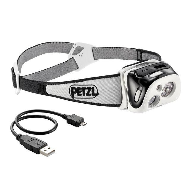 Petzl Lampe frontale actik Core Noir avec batterie et câble de charge 350 LM Luminosité