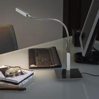 Carpyen - Airo - Lampe de travail Led Chrome H75cm - Lampe à poser designé par Daifuku Designs