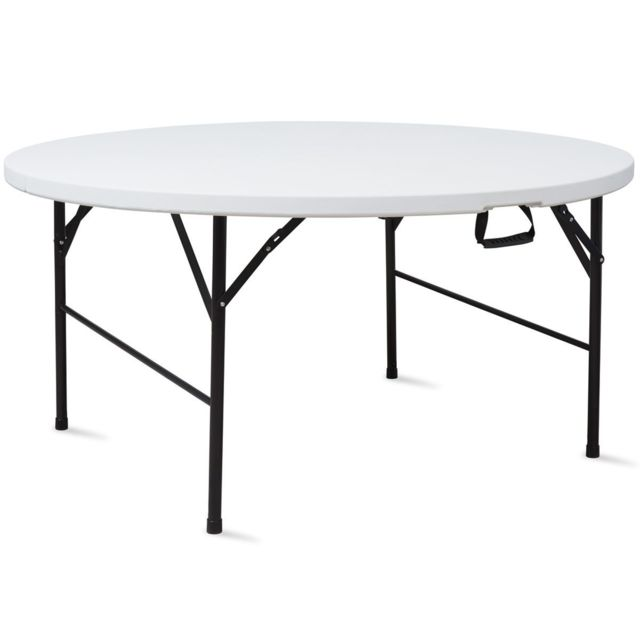 Mobeventpro Table de réception ronde pliante 10 places 180 cm