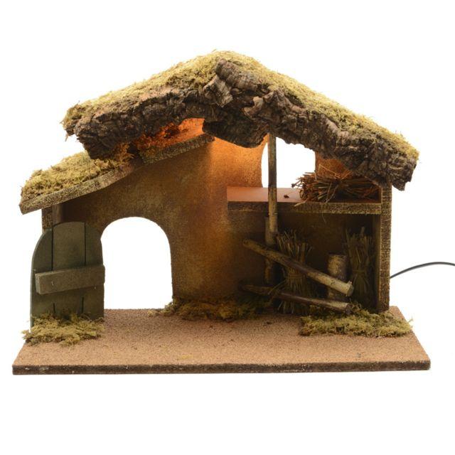 Eminza   Crèche de Noël lumineuse vide Sainte Sabine   pas cher