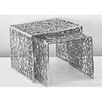 Insideart - Lot de 2 tables basses Eclat de la marque Inside Art - 39 50 39cm et 39 39 36cm