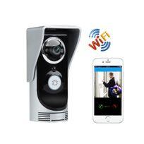Auto-hightech - Interphone visiophone wifi détection de mouvement, vision nocturne, étanche waterproof pour smartphone