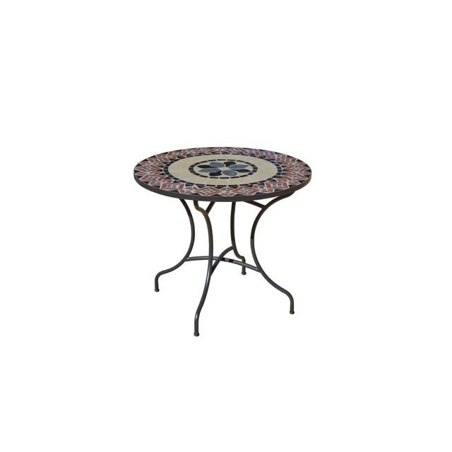 Hevea Table mosaique Cambel90 ronde 90O Hev31408