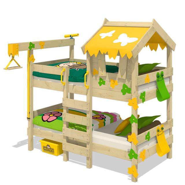 WICKEY Lit superposé en bois Crazy Ivy Lit pour enfant