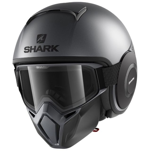 shark casque jet moto scooter drak street neon akk gris noir mat pas cher achat vente. Black Bedroom Furniture Sets. Home Design Ideas