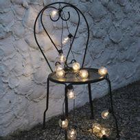 Best Season - Party Light - Guirlande Led d'extérieur Noir 16 Ampoules L9,5m - Luminaire d'extérieur designé par