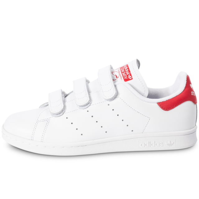 Adidas originals - Stan Smith Cf Velcro Blanc Rouge ...
