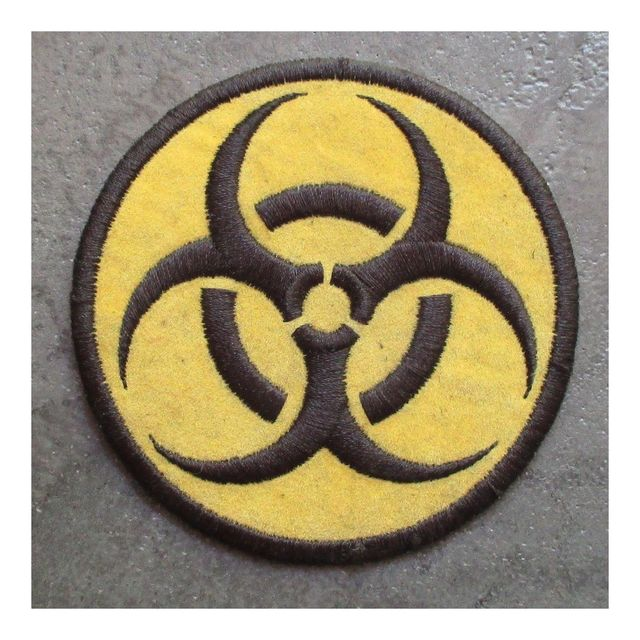 Universel Patch biohazard rond jaune danger radiation ecusson rock