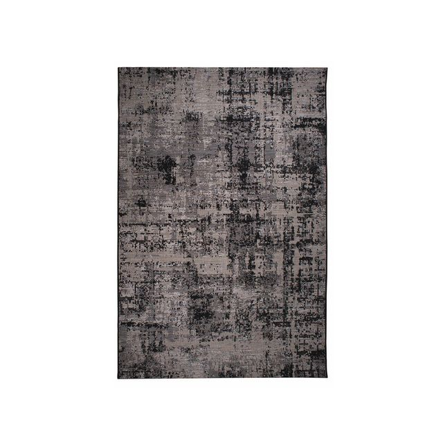 winkler tapis int rieur ext rieur polypropyl ne tiss plat effet vintage vielli catania noir. Black Bedroom Furniture Sets. Home Design Ideas