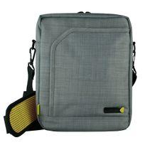 TECHAIR - Sacoche EVO portrait 12 à 13 'Polyester texturé gris, intérieur peluche , poches accessoires