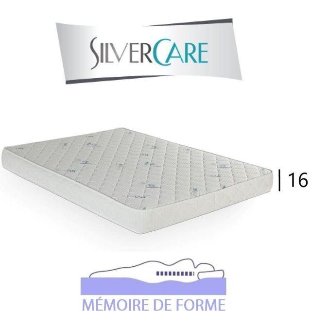 Inside 75 Matelas Crescendo Silvercare épaisseur 16 cm dont 4 cm à mémoire de forme 50Kg/m3 pour canapé rapido 160 cm