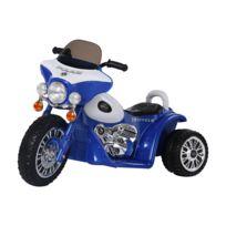 Effet Roues Électrique V Moto 6 Lumineux Kmh Et Sonore Bleu Pour Police Enfants Chopper Env3 PkiZuX