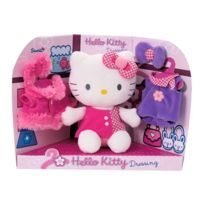 Hello Kitty - Peluche et son dressing - Avec vêtements - A collectionner