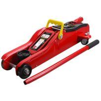 Imdifa - 63601 Cric Rouleur Hydraulique Taille Basse 2 Tonnes Rouge