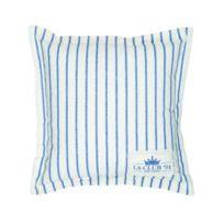 LIFESTYLE HOME COLLECTION - Coussin LS CLUB 94 rayé Bleu et Blanc 70x70cm