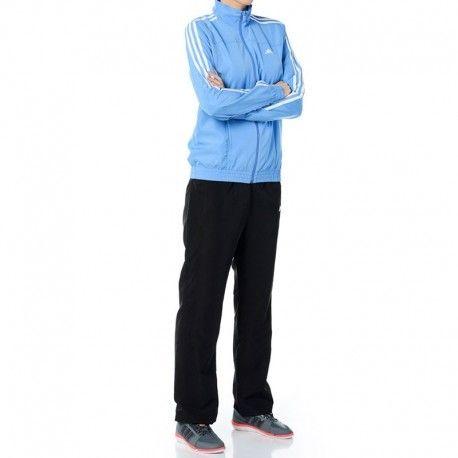 adb155049ce Adidas originals - Survêtement 3S Woven Sport Bleu Femme Adidas ...
