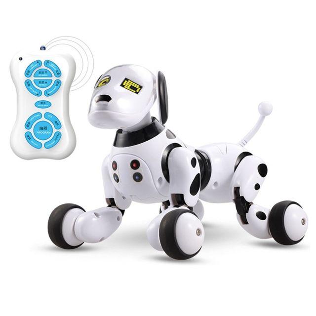 Jouet Robot Intelligent Sensing Chien Pour Animaux De Compagnie éducation Précoce Pour Interactive Parent Noir Blanc