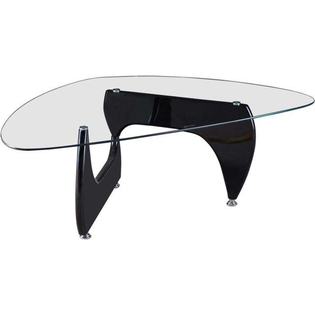 HABITAT ET JARDIN Table basse Tara - 120 x 70.5 x 41 cm - Noir laqué