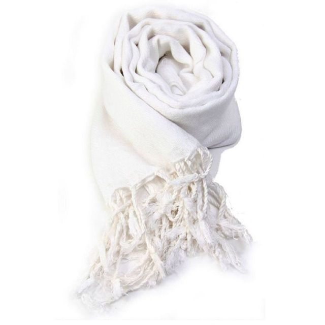 fb6695d86510 Accessoires mode pashmina étole écharpe blanc - pas cher Achat   Vente  Echarpes, foulards - RueDuCommerce