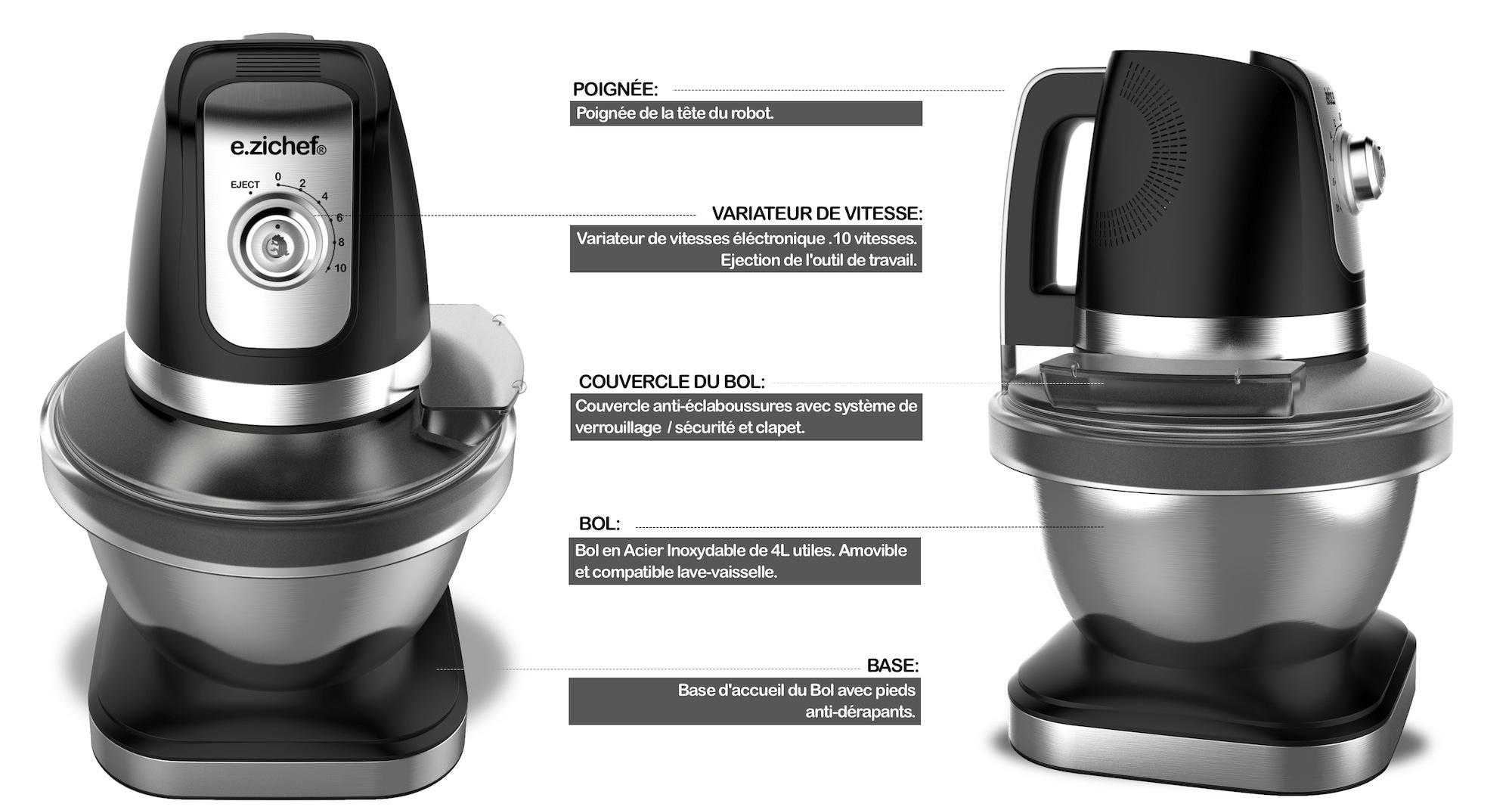 destockage e zichef robot p tissier eclair black pas cher achat vente petit. Black Bedroom Furniture Sets. Home Design Ideas