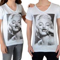 Little Eleven Paris - Tee Shirt Marilyn Ss Mixte Garçon / Fille, Marilyn Monroe Blanc Vintage