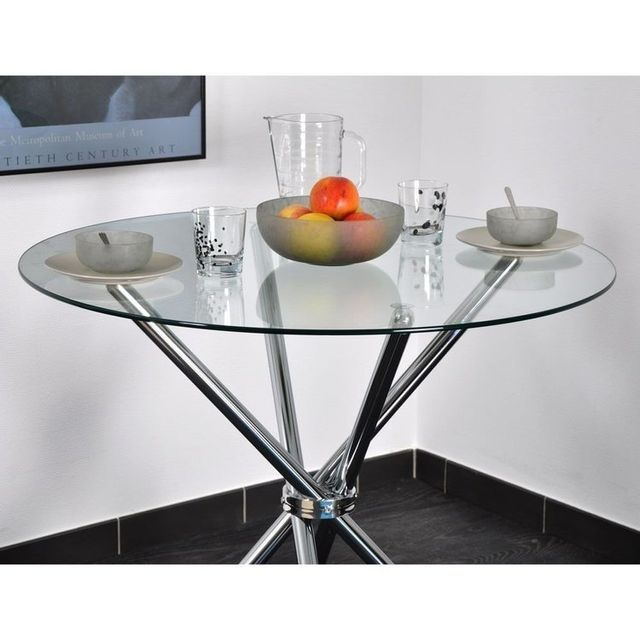 Table ronde verre - Achat Table ronde verre - Rue du Commerce