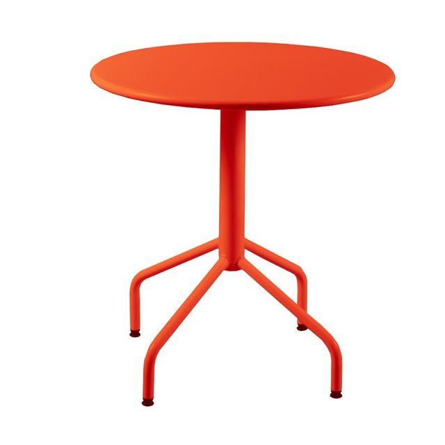 Rm Metal - Table ronde de Jardin en métal pliante 4 pieds ...