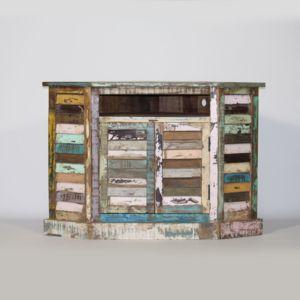 made in meubles meuble tv d 39 angle ethnik bois recycl color mk21 bois colore bois color. Black Bedroom Furniture Sets. Home Design Ideas