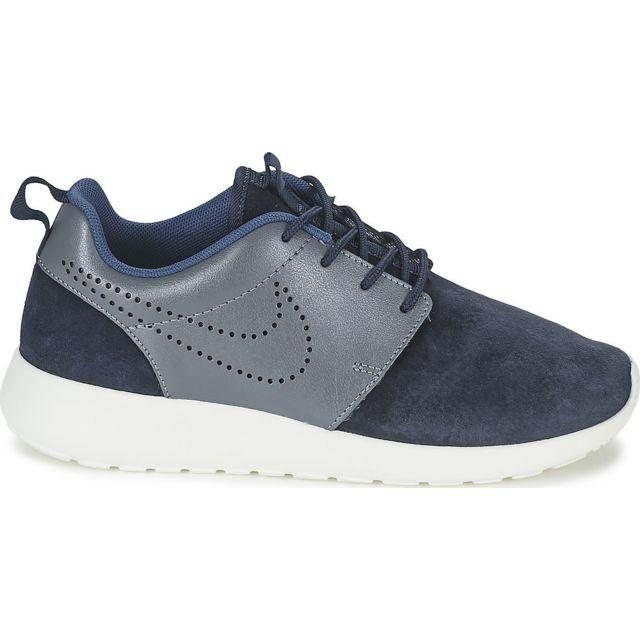 Textile Nike Nike Roshe One Print Prem Bleu Baskets chez