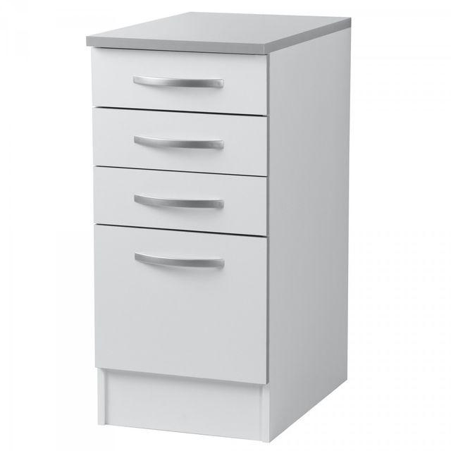 altobuy twist blanc casserolier 4t 40cm 60cm x 40cm x 86cm pas cher achat vente meubles. Black Bedroom Furniture Sets. Home Design Ideas