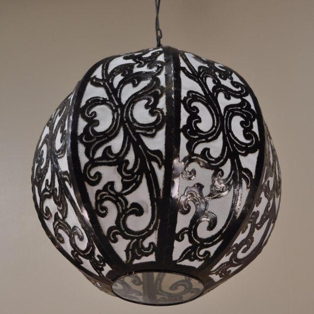 Wanda Collection Suspension lustre acier déco 40cm