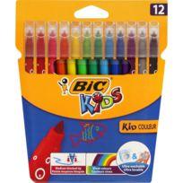 Bic - Lot de 12 feutres Kid Couleur Ultra lavables - Couleurs assorties
