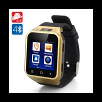 Auto-hightech - Montre téléphone Bluetooth android 3G - Dual Core 8GB 5 Megapixel or