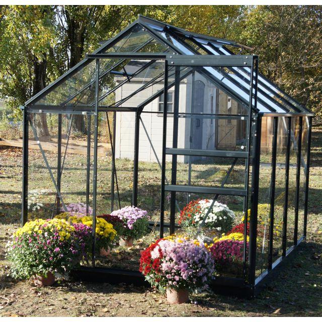 Chalet jardin linda 46 serre de jardin 4 65 m pas cher achat vente serres en verre - Serre de jardin carrefour ...