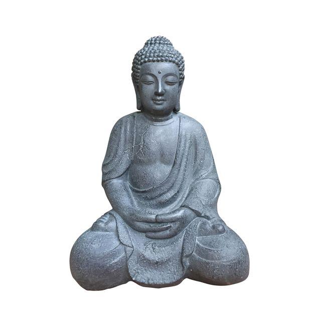 L3C Cdaffaires bouddha assis grc h42cm gris