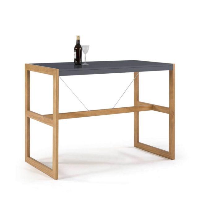 Bobochic Table bar Miami Gris / Bois clair