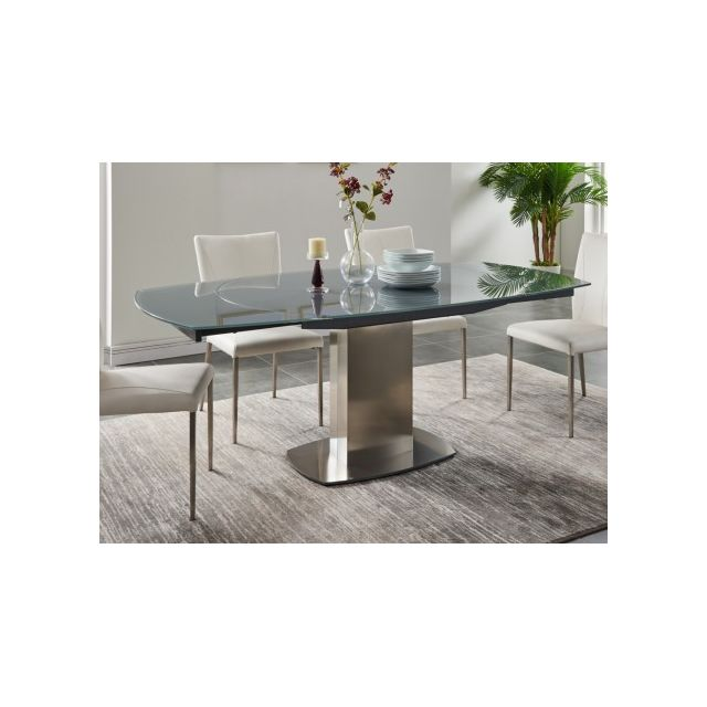 Table A Manger Extensible Talicia Verre Trempe Metal 6 A 8