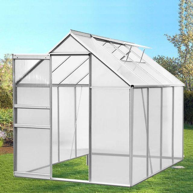 IDMARKET - Serre de jardin aluminium et polycarbonate 4.75 ...