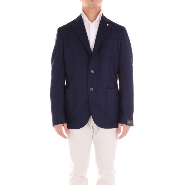 Brando Homme 281285007BLUE Bleu Coton Blazer