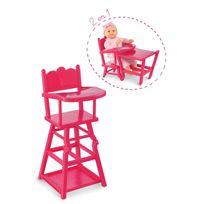 COROLLE - Chaise haute cerise pour poupon 36/42/52 cm - CMW93
