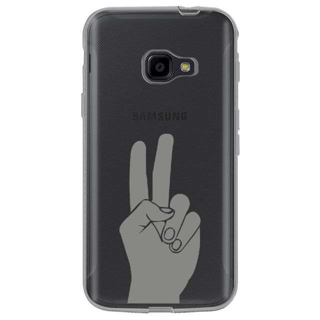 kabiloo coque souple pour samsung galaxy xcover 4 avec impression motifs main peace and love. Black Bedroom Furniture Sets. Home Design Ideas