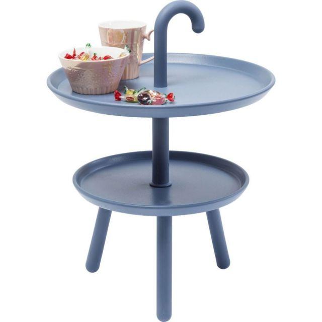 Karedesign - Table d'appoint Jacky bleue 42cm Kare Design 42cm x 42cm x 56cm