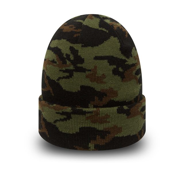 New Era - Bonnet à revers woodland camo kaki Vert - Taille unique ... 6d8fb506ced