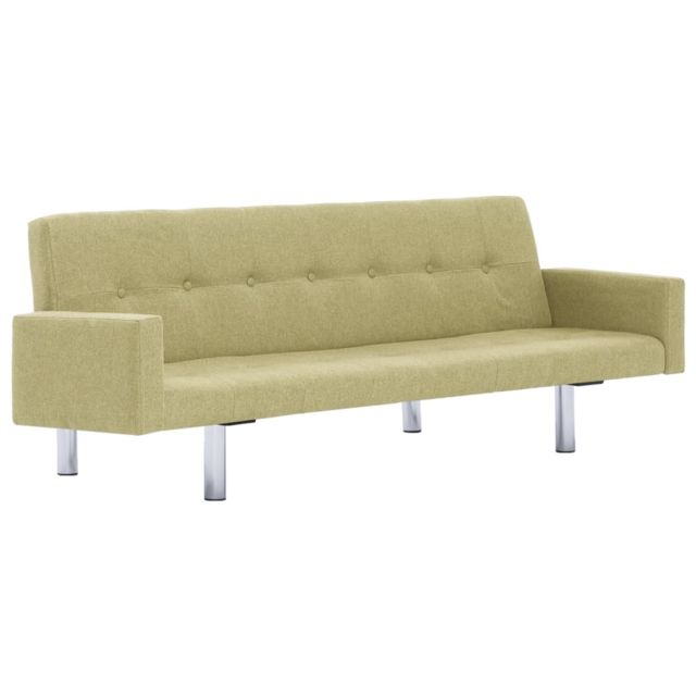 Icaverne - Canapés ensemble Canapé-lit avec accoudoir Vert Polyester