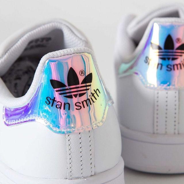 Adidas originals - Stan Smith Aq6272 Iridescent Hologram - aq6272, stan smith, iridescent, hologram, neon Blanc - 38