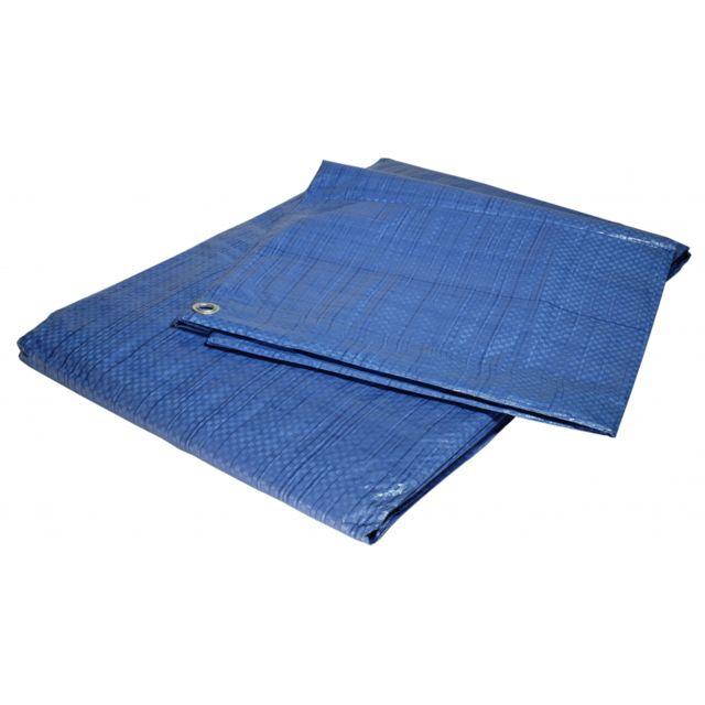 tecplast b che plastique 2x3 m bleue 80g m b che de protection poly thyl ne 200cm x 300cm. Black Bedroom Furniture Sets. Home Design Ideas
